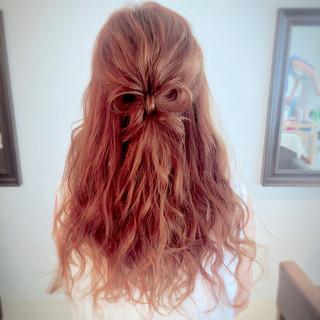 ヘアアレンジ ロング 大人かわいい ハーフアップ ヘアスタイルや髪型の写真・画像