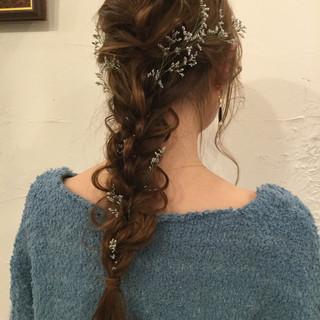 ロング ヘアアレンジ エレガント 上品 ヘアスタイルや髪型の写真・画像