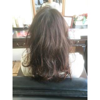 セミロング ピンク ゆるふわ グレージュ ヘアスタイルや髪型の写真・画像