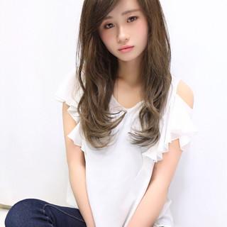 大人かわいい コンサバ ハイライト アッシュ ヘアスタイルや髪型の写真・画像