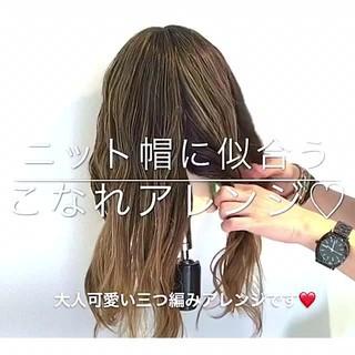 女子会 ナチュラル ヘアアレンジ アウトドア ヘアスタイルや髪型の写真・画像