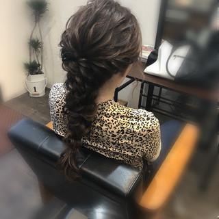 ヘアセット ロング 結婚式 フェミニン ヘアスタイルや髪型の写真・画像