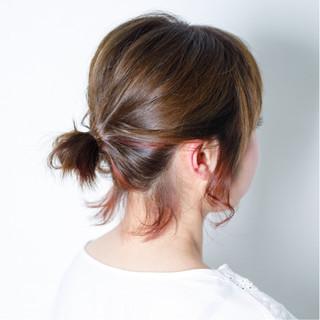 簡単ヘアアレンジ ナチュラル アウトドア デート ヘアスタイルや髪型の写真・画像
