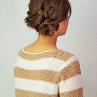 ロング ショート ヘアアレンジ ねじり ヘアスタイルや髪型の写真・画像