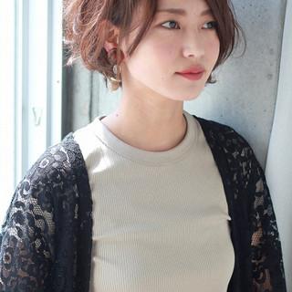 外国人風 大人女子 ニュアンス ショート ヘアスタイルや髪型の写真・画像
