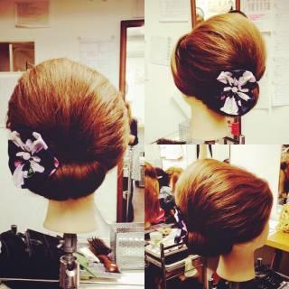 ヘアアレンジ アップスタイル ガーリー セミロング ヘアスタイルや髪型の写真・画像