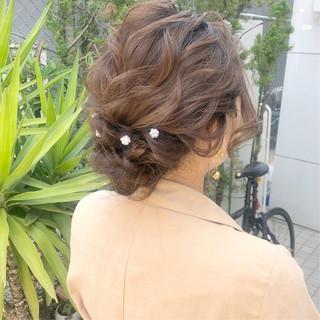 ヘアアレンジ 結婚式 ナチュラル 簡単ヘアアレンジ ヘアスタイルや髪型の写真・画像 ヘアスタイルや髪型の写真・画像
