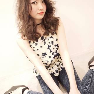 ガーリー モテ髪 ナチュラル ストリート ヘアスタイルや髪型の写真・画像