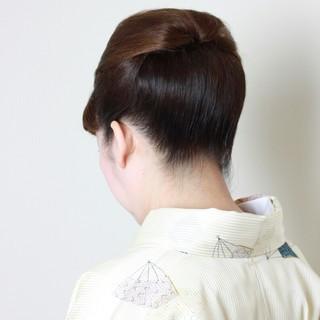 和装 ショート アップスタイル 40代 ヘアスタイルや髪型の写真・画像
