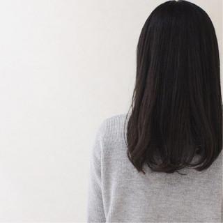 透明感 大人かわいい セミロング ナチュラル ヘアスタイルや髪型の写真・画像
