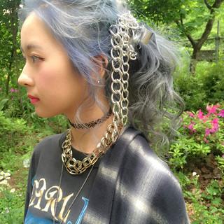 外国人風 ハーフアップ 夏 簡単ヘアアレンジ ヘアスタイルや髪型の写真・画像
