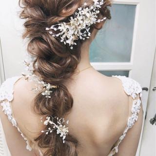 アンニュイ 結婚式 パーティ 大人かわいい ヘアスタイルや髪型の写真・画像
