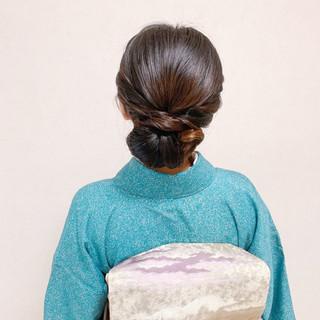 ミディアム 結婚式ヘアアレンジ 和装ヘア お呼ばれ ヘアスタイルや髪型の写真・画像