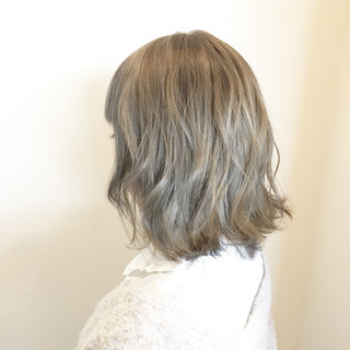 モテ髪 外国人風カラー ヘアアレンジ ミディアム ヘアスタイルや髪型の写真・画像