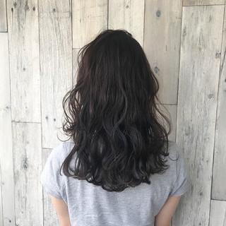 波ウェーブ ナチュラル 涼しげ ヘアアレンジ ヘアスタイルや髪型の写真・画像
