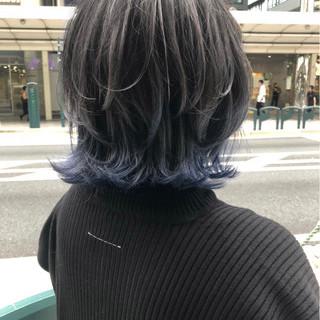 マッシュ ブリーチ 色気 ウルフカット ヘアスタイルや髪型の写真・画像