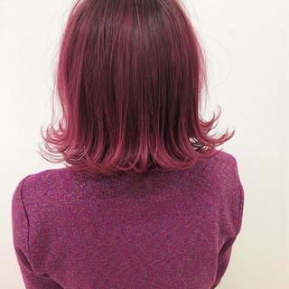外国人風 ゆるふわ グラデーションカラー アンニュイ ヘアスタイルや髪型の写真・画像