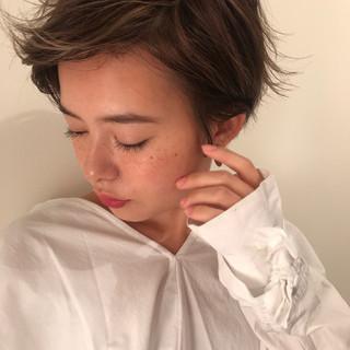 ショート デート パーマ 冬 ヘアスタイルや髪型の写真・画像