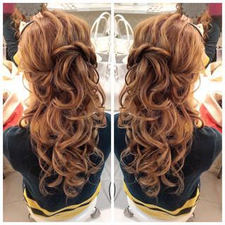 ロング 簡単ヘアアレンジ ヘアアレンジ 浴衣ヘア ヘアスタイルや髪型の写真・画像