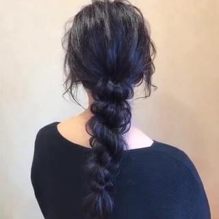 簡単ヘアアレンジ フェミニン ヘアアレンジ ロング ヘアスタイルや髪型の写真・画像