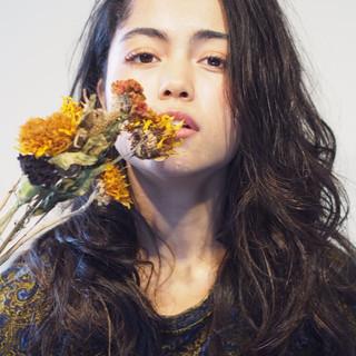 ハイライト ロング モード 外国人風 ヘアスタイルや髪型の写真・画像