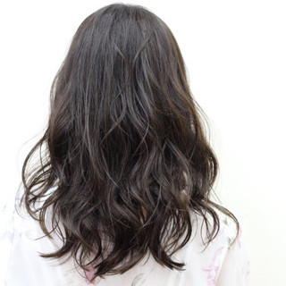 暗髪 セミロング 大人かわいい アッシュ ヘアスタイルや髪型の写真・画像 ヘアスタイルや髪型の写真・画像
