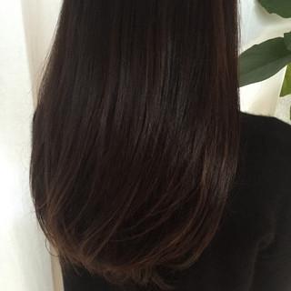 黒髪 ロング ハイライト 暗髪 ヘアスタイルや髪型の写真・画像