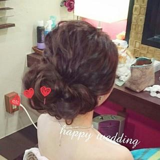 ゆるふわ 結婚式 ハーフアップ 大人かわいい ヘアスタイルや髪型の写真・画像