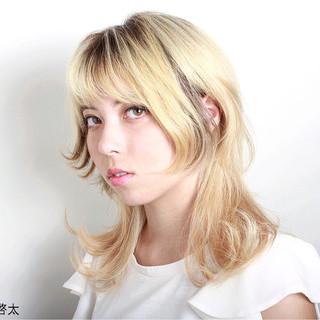 ハイライト モード グラデーションカラー ウルフカット ヘアスタイルや髪型の写真・画像