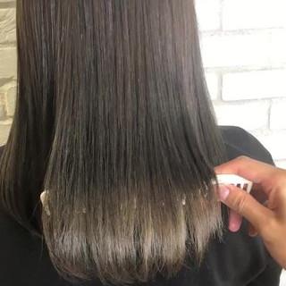 サイエンスアクア グレージュ トリートメント アディクシーカラー ヘアスタイルや髪型の写真・画像