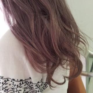 外国人風 ロング ハイライト インナーカラー ヘアスタイルや髪型の写真・画像