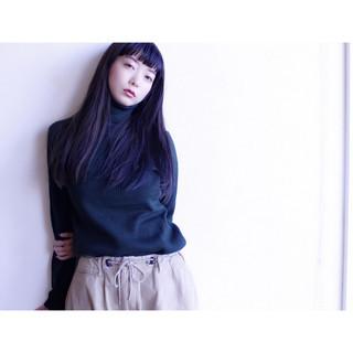 暗髪 ロング 冬 外国人風 ヘアスタイルや髪型の写真・画像