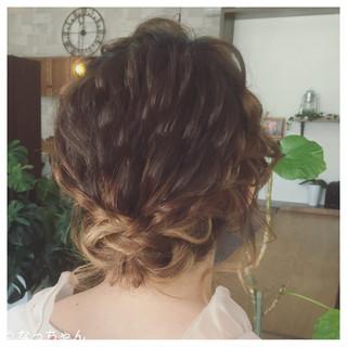 ヘアアレンジ フェミニン 結婚式 ブライダル ヘアスタイルや髪型の写真・画像