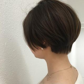 ショート ナチュラル 小顔 似合わせ ヘアスタイルや髪型の写真・画像