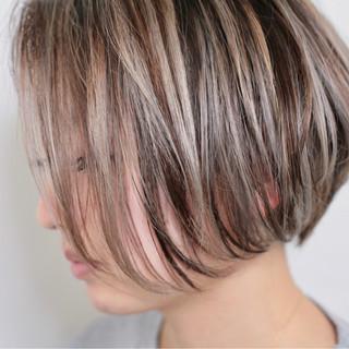 ハイライト 外国人風カラー 外国人風 ボブ ヘアスタイルや髪型の写真・画像