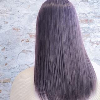 イルミナカラー パープル ミディアム 艶髪 ヘアスタイルや髪型の写真・画像 ヘアスタイルや髪型の写真・画像