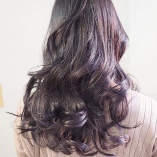 ラベンダーアッシュ ラベンダー ロング 外国人風カラー ヘアスタイルや髪型の写真・画像