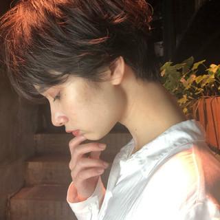 ベリーショート ショート ナチュラル 黒髪 ヘアスタイルや髪型の写真・画像