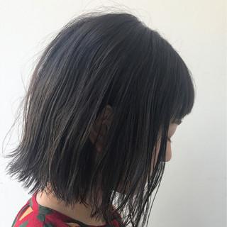 外国人風カラー ボブ アッシュグレージュ グレージュ ヘアスタイルや髪型の写真・画像