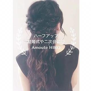 ルーズ 結婚式 女子会 簡単ヘアアレンジ ヘアスタイルや髪型の写真・画像