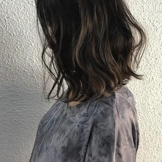 秋 ボブ 外国人風カラー ミディアム ヘアスタイルや髪型の写真・画像