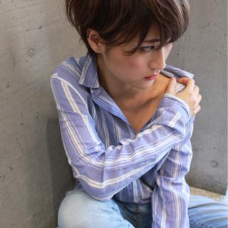 大人女子 モード ハイライト 前髪あり ヘアスタイルや髪型の写真・画像