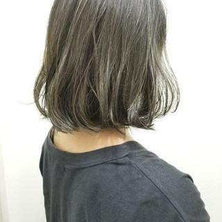 外国人風 ボブ ハイライト リラックス ヘアスタイルや髪型の写真・画像