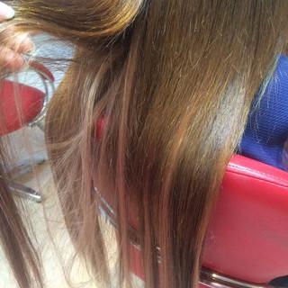 モテ髪 愛され ハイライト ピンク ヘアスタイルや髪型の写真・画像