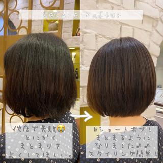 丸みショート ショートヘア ナチュラル ショート ヘアスタイルや髪型の写真・画像