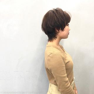 ショートヘア ショート ナチュラルウルフ ウルフカット ヘアスタイルや髪型の写真・画像