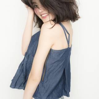 コンサバ 透明感 モテ髪 ミディアム ヘアスタイルや髪型の写真・画像