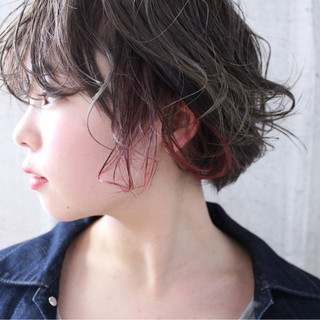 ショート アンニュイ ナチュラル 愛され ヘアスタイルや髪型の写真・画像