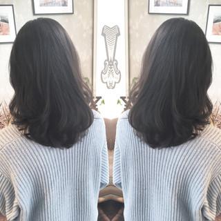 就活 暗髪 ダークアッシュ 上品 ヘアスタイルや髪型の写真・画像