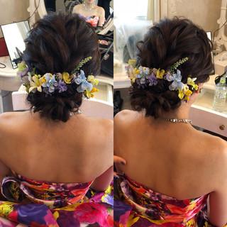 アップ 結婚式 結婚式髪型 ヘアアレンジ ヘアスタイルや髪型の写真・画像